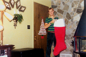 1978 Jeff with Stocking
