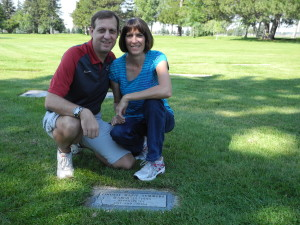 Jeff & Trina at Lindsay's Grave